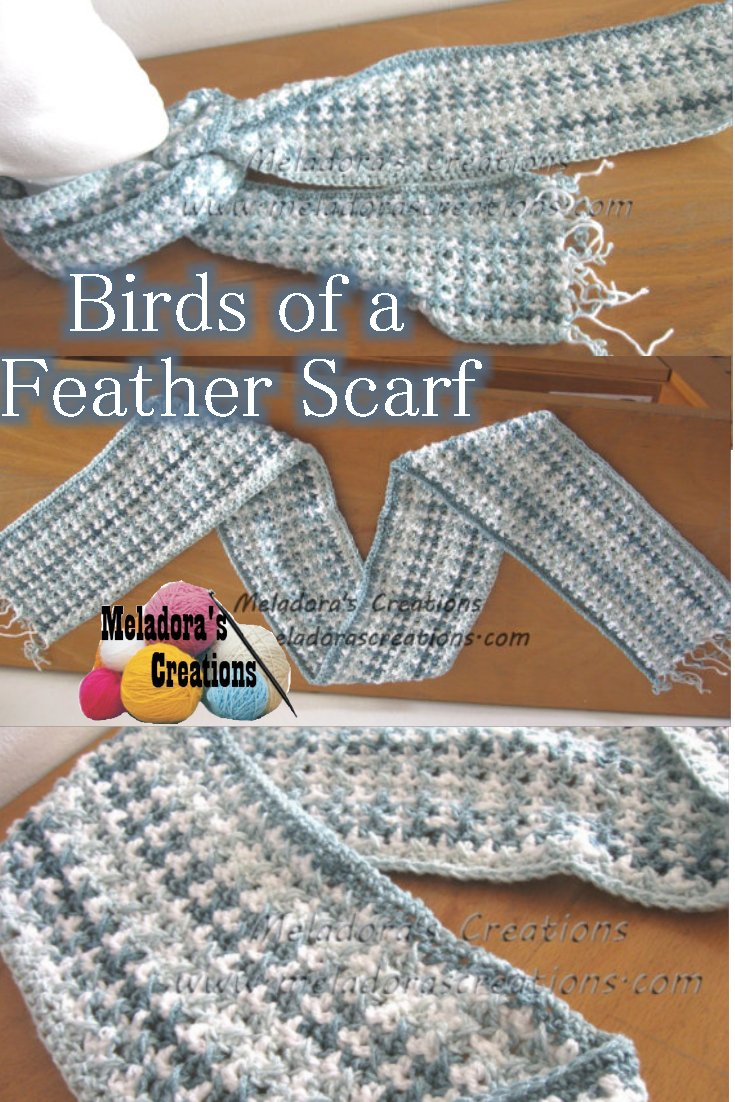 Birds Of A Feather Scarf Free Crochet Pattern