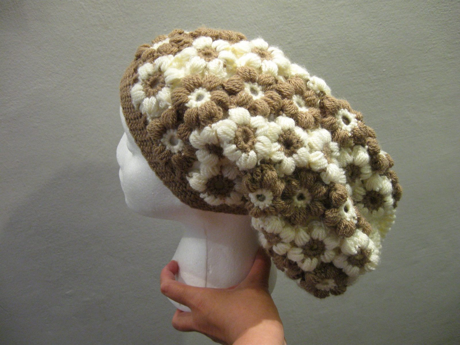 Flower Slouch Hat Free Crochet Pattern