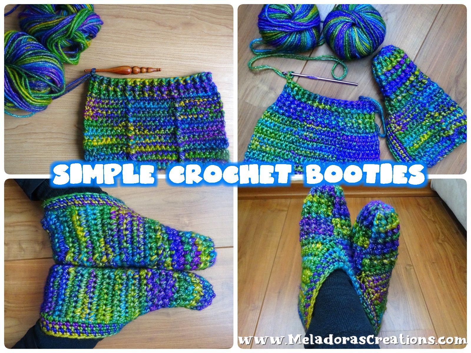 Simple Crochet Booties - Free Crochet Pattern