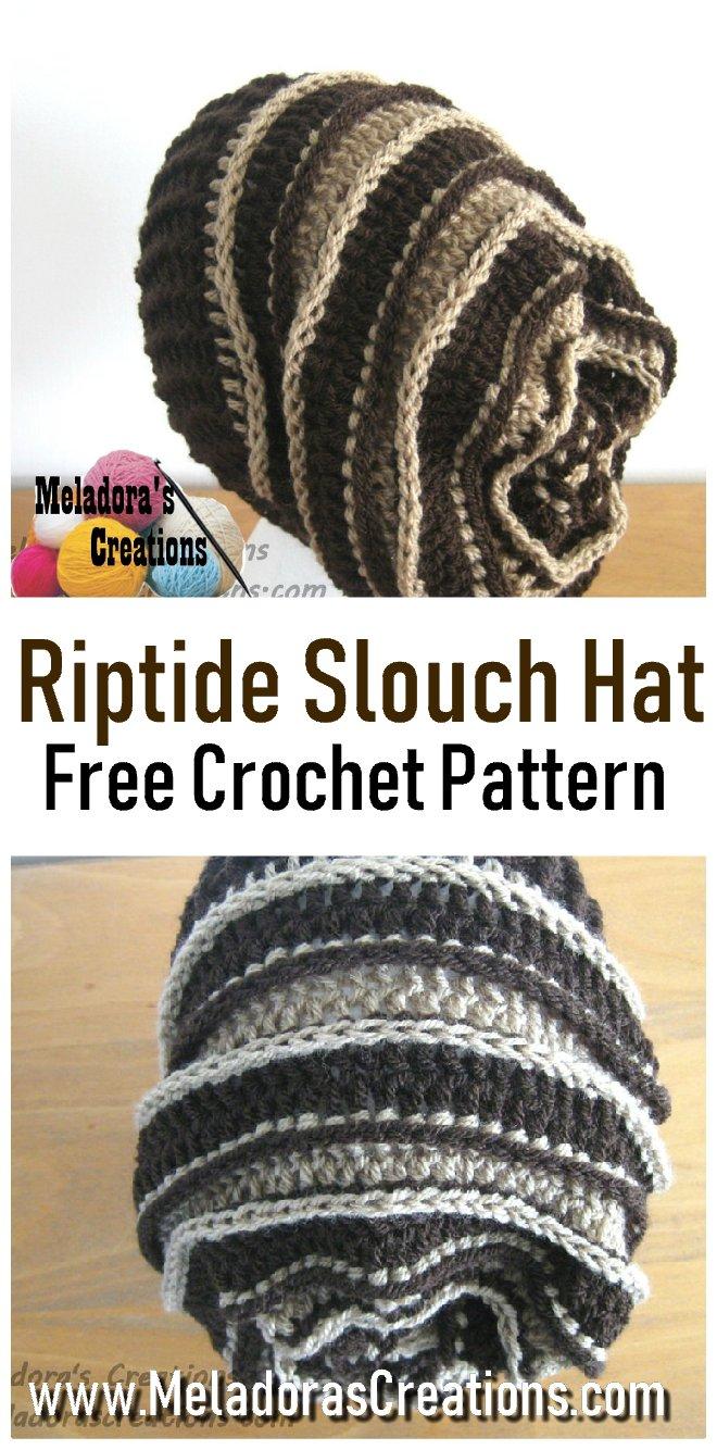 Riptide Slouch Hat Free Crochet Pattern