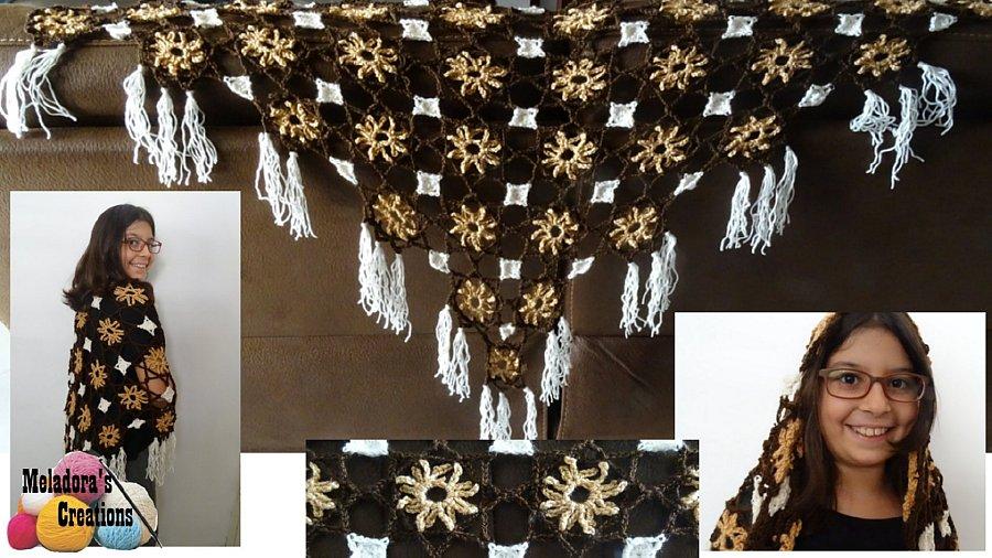 Lacy Flower Crochet Shawl Pattern