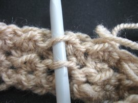 Moss Stitch FIngerless Gloves 2