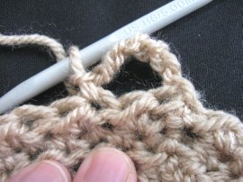 Moss Stitch FIngerless Gloves 4