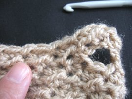 Moss Stitch FIngerless Gloves 6