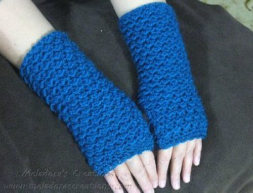 Crochet Finger less Crochet Gloves – Moss Stitch Finger Less Gloves – Free Crochet Pattern