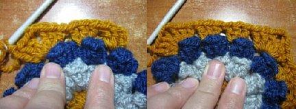 Popcorn stitch combined pic 2