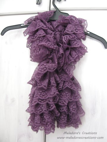 Free Knitting Pattern For Ruffled Shawl : Meladoras Creations Lacy Ruffle Scarf   Free Knitting Pattern