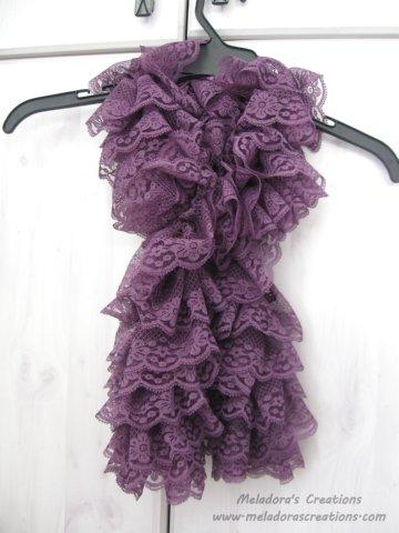 Lacy Ruffle Scarf Free Crochet Pattern