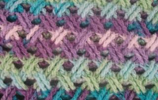 Interweave Cable Stitch Shot of stitch 2