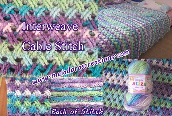Interweave Crochet Patterns : ... Interweave Cable Celtic Weave Crochet Stitch - Free Crochet Pattern