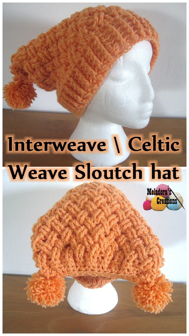Childs Square Crochet Beanie - Celtic Weave Stitch Beanie - Free Crochet Pattern