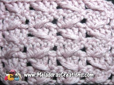 Diagonal Spike Stitch Free Crochet Pattern