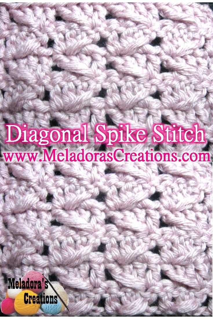Diagonal Spike Stitch – Free Crochet Pattern