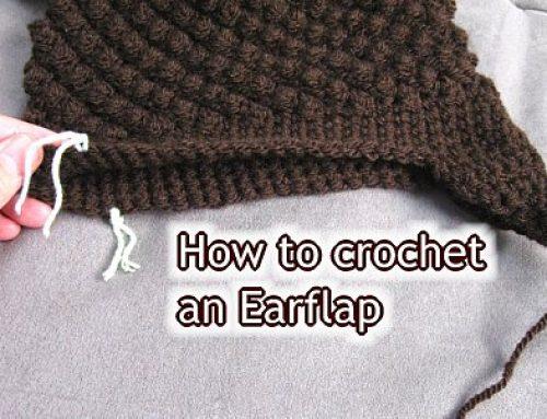 Ear Flaps onto Hat: Beginner crochet tutorial