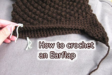 Ear Flaps Onto Hat Free Crochet Pattern