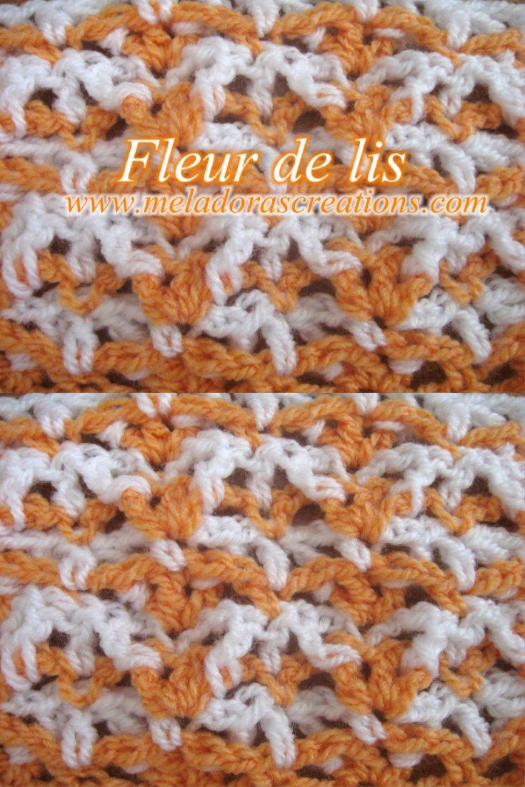 Fleur de lis Stitch – Free Pattern and Tutorial