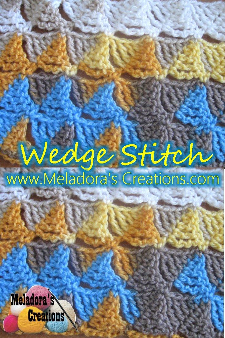 Meladora\'s Creations – Wedge Stitch – Free Crochet Pattern