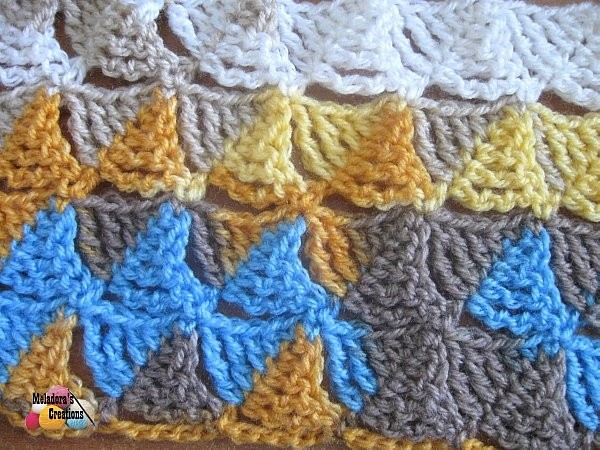 Meladoras Creations Wedge Stitch Free Crochet Pattern