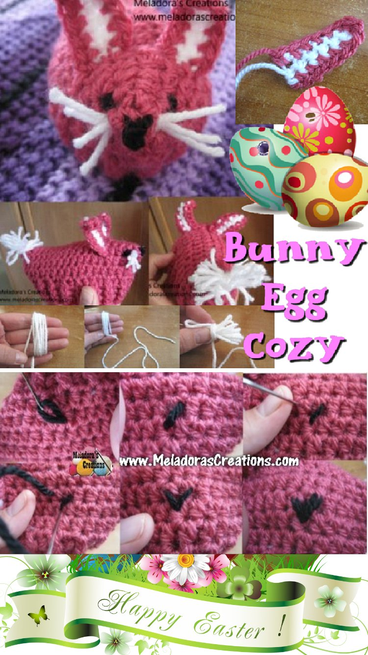Easter Bunny Egg Cozy Free Crochet Pattern