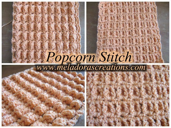 Meladoras Creations Popcorn Stitch Row And Round Free Crochet