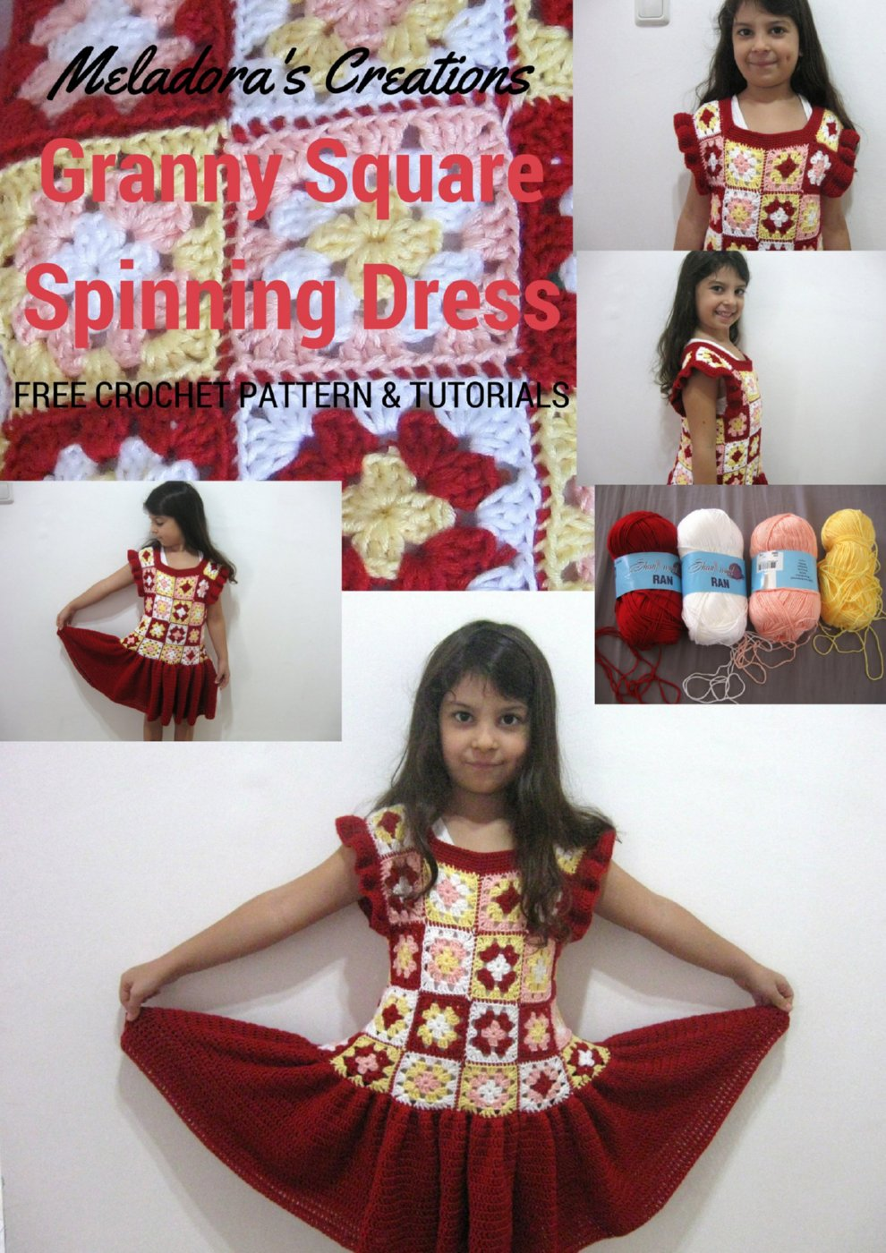 Boho Chic Dress Tutorial - Granny Square Spinning Dress - Free Crochet Pattern and Tutorial