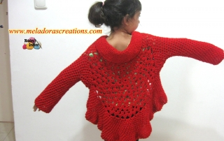 Butterfly stitch Jacket Finished 5 - display