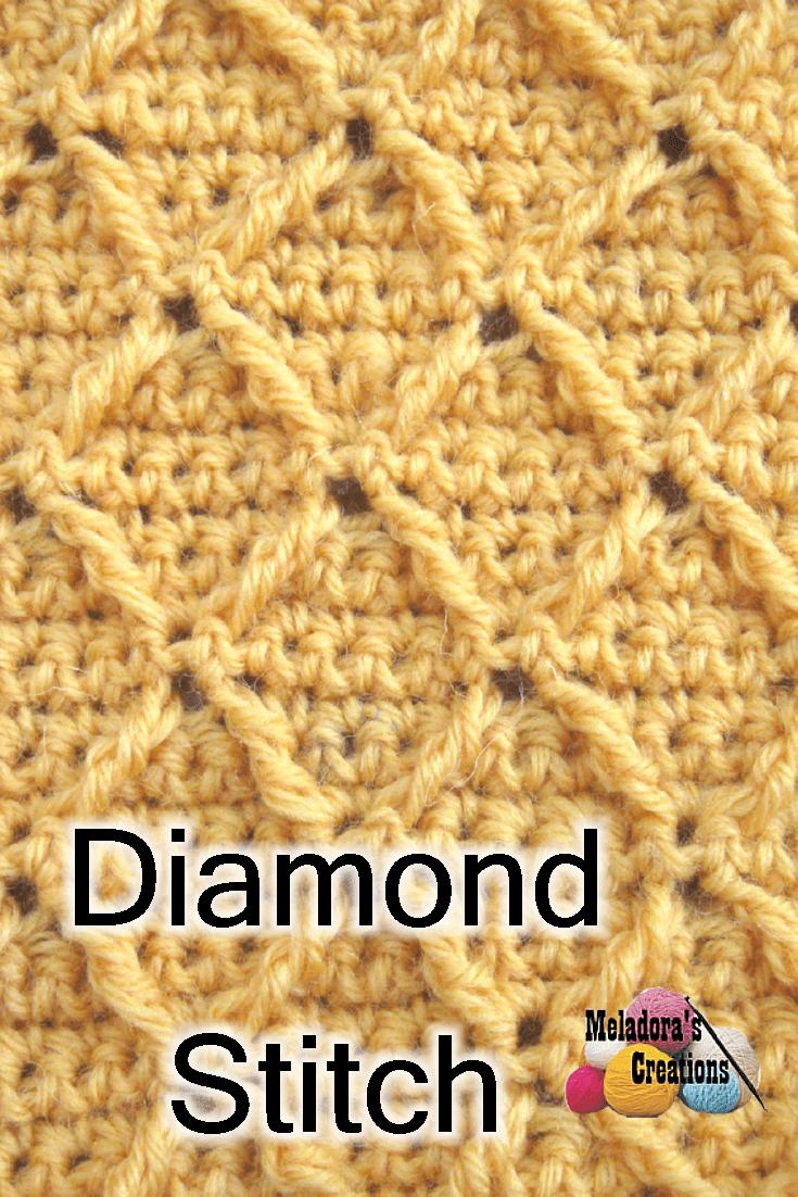 Diamond Crochet Stitch - Free Crochet Pattern and Video tutorial