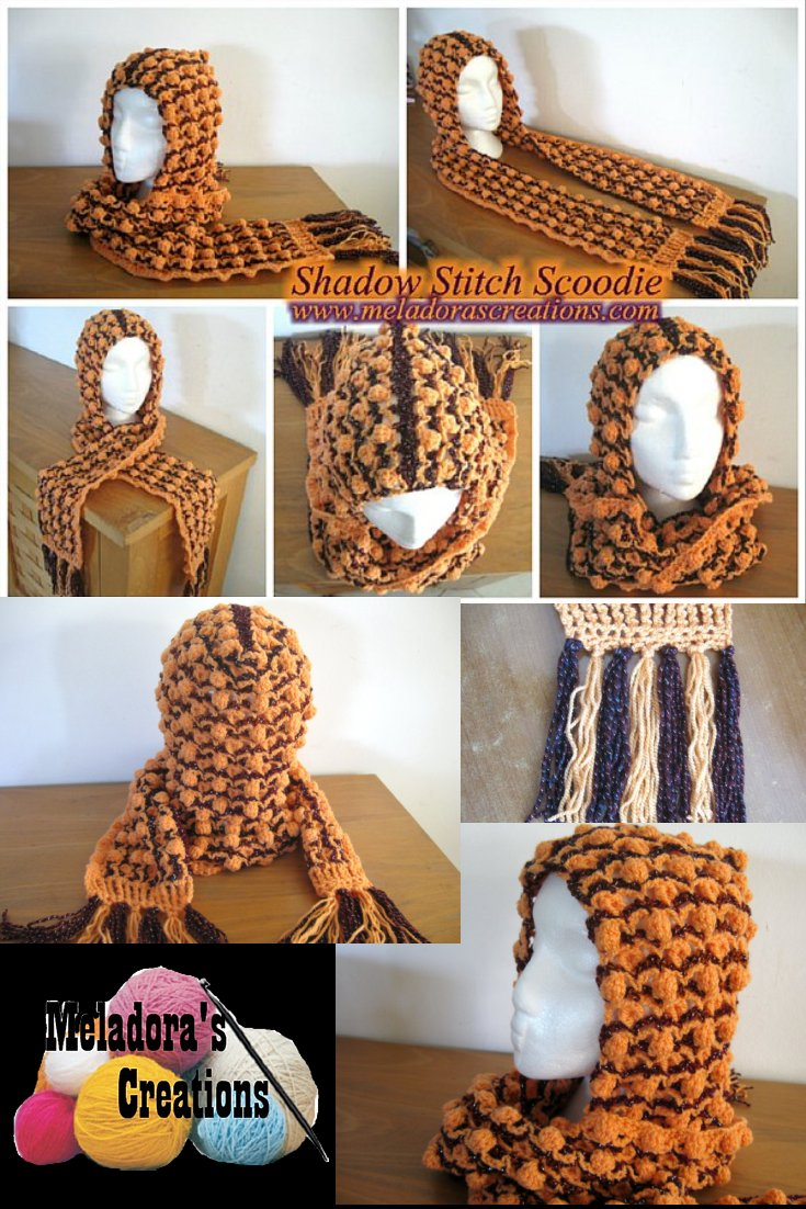 Shadow Stitch Scoodie - Free Crochet Pattern