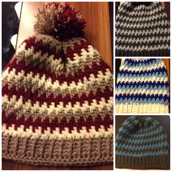 Thick Mesh Slouch Hat Free Crochet Pattern