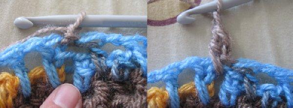beginning stitch