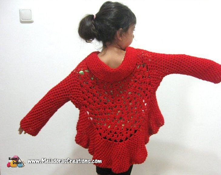 Butterfly Stitch Circular Jacket Free Crochet Pattern