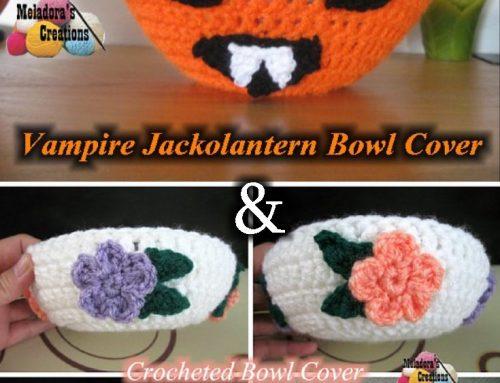 Vampire Jack o lantern Bowl Cover – Free Crochet Pattern