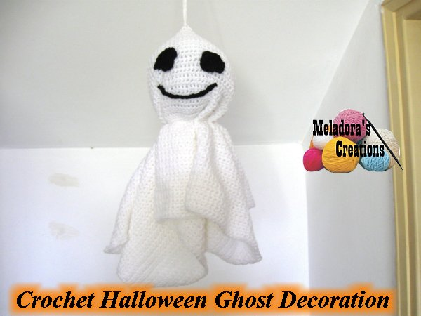 Crochet Halloween Ghost Decoration 600 WM