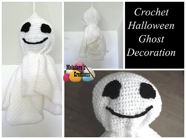 Free Easy Halloween Crochet Patterns : Meladoras Creations Crochet Halloween Ghost ? Free ...