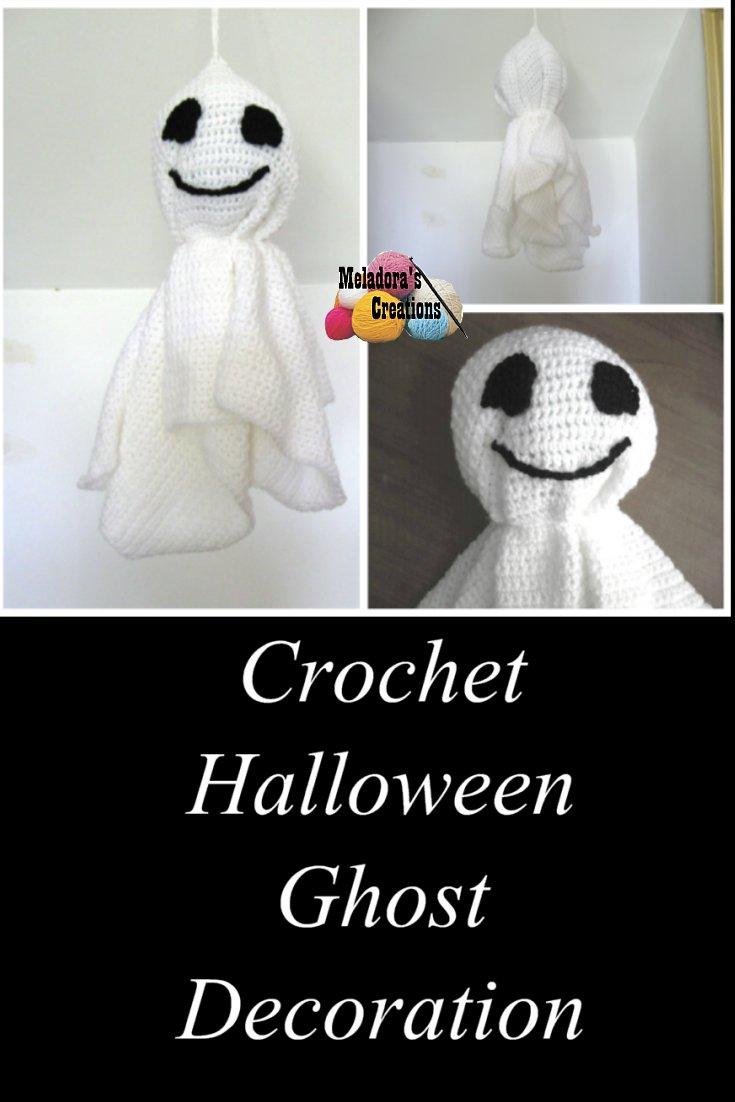 Crochet Halloween Ghost - Free Crochet Pattern