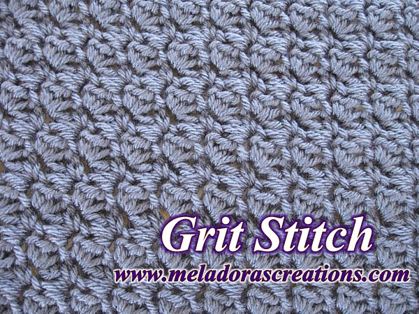 Meladoras Creations The Grit Stitch Free Crochet Pattern