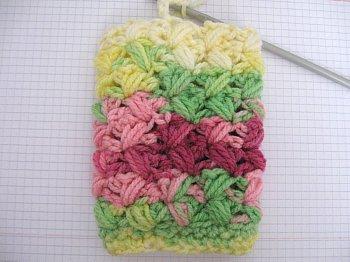 Crochet Zig Zag Puff Stitch : ... Zig Zag Puff Stitch Finger less Gloves - Free Crochet Pattern