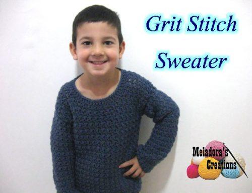 Grit Stitch Sweater – Free Crochet Pattern