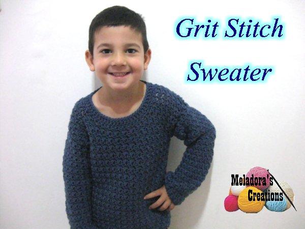 Grit Stitch Crochet Sweater for Boys – Free Crochet Pattern