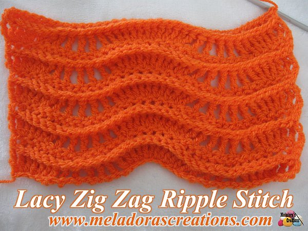 Lacy Zig Zag Ripple Stitch Free Crochet Pattern