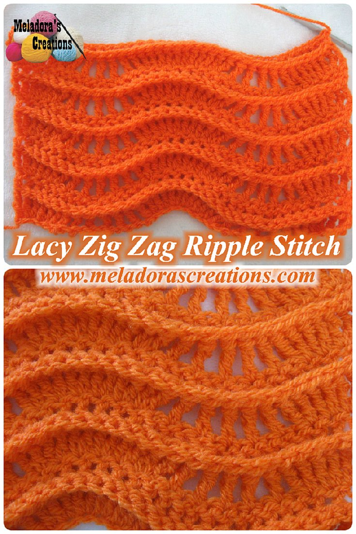 Lacy Zig Zag Ripple Stitch Free Crochet Pattern