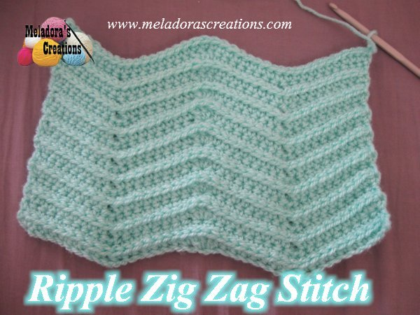 Crocheting Zig Zag Stitch : Meladoras Creations Ripple Zig Zag Stitch - Free Crochet Pattern