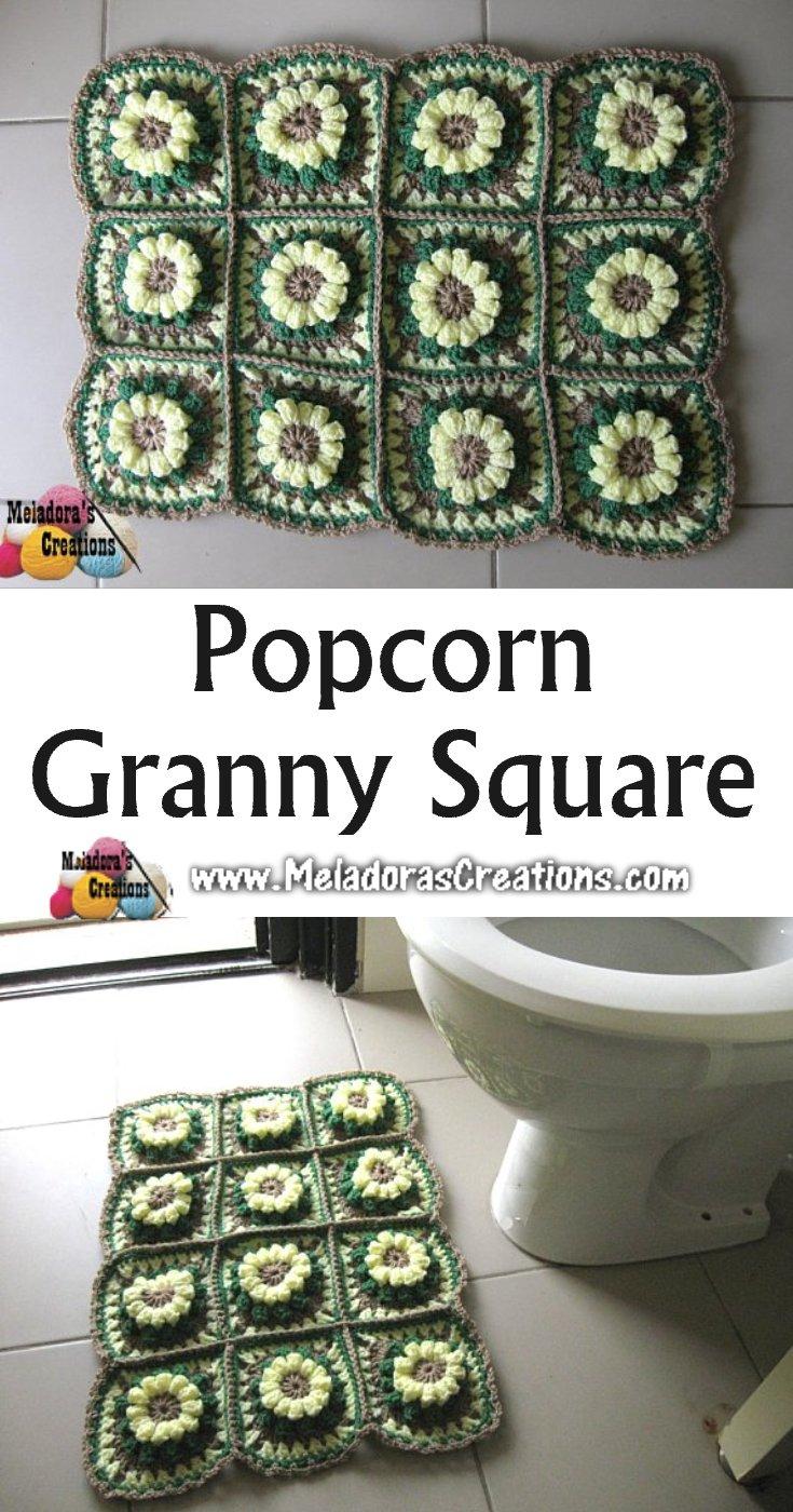 Popcorn Granny Square Rug