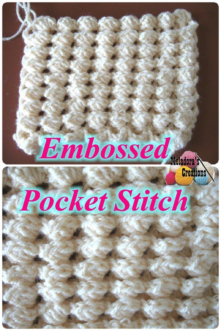 Crochet Embossed Pocket Stitch – Free Crochet Pattern
