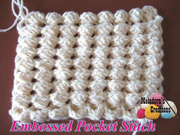 Crochet Embossed Pocket Stitch Free Crochet Pattern