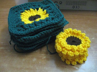 Sunflower Granny Sweater 1