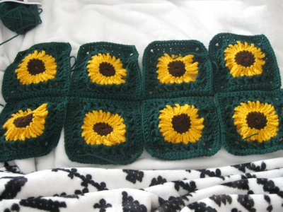 Sunflower Granny Sweater 9