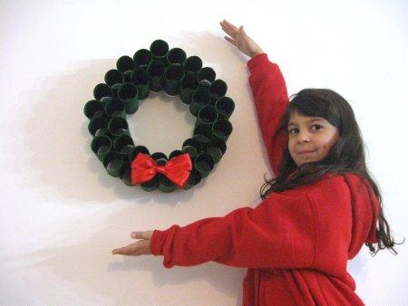 Toliet Paper Roll Wreath - 11