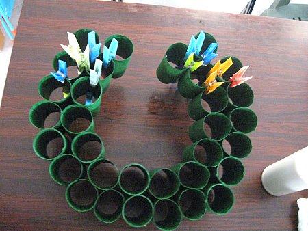 Toliet Paper Roll Wreath - 3