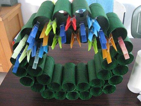 Toliet Paper Roll Wreath - 5